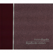 VISITORS REGISTRY BOOK BURGUNDY BLUELINE 128P