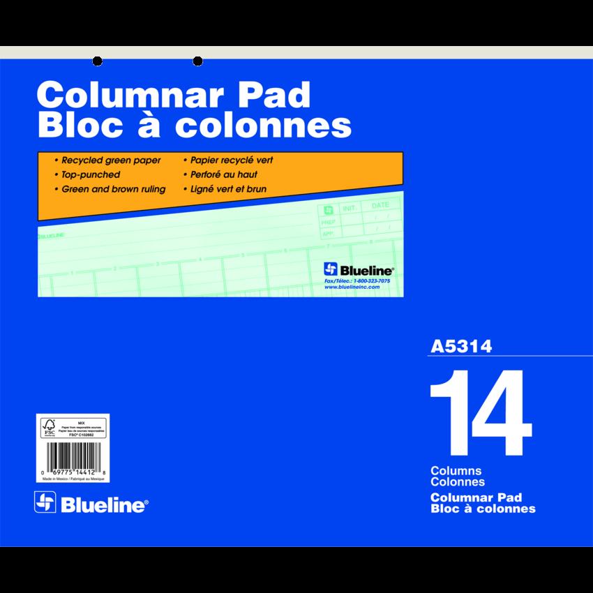 COLUMNAR PAD 17x14 14COL 5OSHT