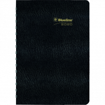 DIARY MONTHLY CANADA 9x7 BLACK BILINGUAL TWIN-WIRE ESSENTIAL