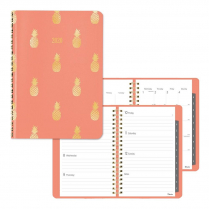 WEEK/MONTH PLANNER PINEAPPLE 8x5 CORAL VICUANA