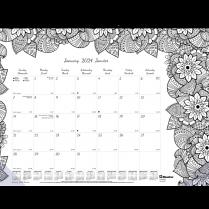 BOTANICA COLOURING DESK PAD 22x17 MONTHLY BLUELINE BIL