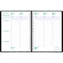 DIARY WEEKLY 10-1/4x7-5/8