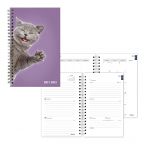 """BLUELINE ACADEMIC WEEKLY PLANNER 8"""" x 5"""" FURRY CAT JULY - JULY"""