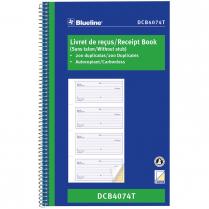 """RECEIPT BOOK DUPLICATE 4UP BILINGUAL 10-7/8""""x6-3/4"""""""