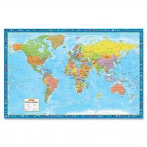 WORLD MAP LAMIN 38 X 59