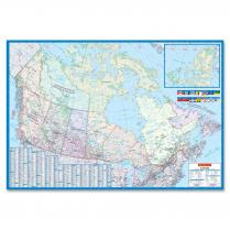 MAP WALL LAMIN CANADA 28x40