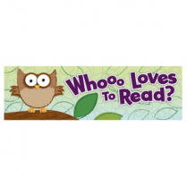 BOOKMARKS WHOOO LOVES TO READ? CD103018 L4892-00