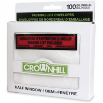 PACKING SLIP ENVELOPES 100/PK HALF WINDOW 5.5x5 CROWNHILL