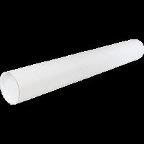 MAIL TUBES 2x24 W/CAPS 25/BOX WHITE