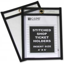 SHOP TICKET HOLDER 4x6 CLEAR 25/BOX