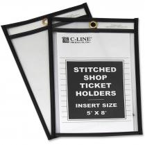 SHOP TICKET HOLDER 5x8 CLEAR 25/BOX