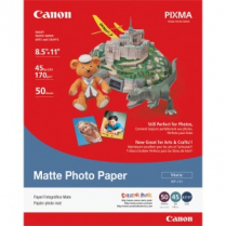 PHOTO PAPER 8.5x11 50SHTS CANON MP101 MATTE