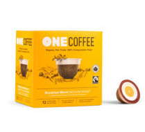 ONECOFFEE 1-SERVE PODS 18/BX BREAKFAST BLEND COMPAT TO KCUP