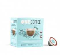 ONECOFFEE 1-SERVE PODS 18/BX COLOMBIAN COMPAT TO KCUP