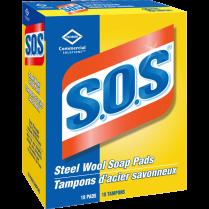 SOS STEEL WOOL PADS *18/BX