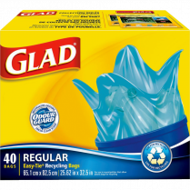 GLAD BLUE RECYCLED BAG 67L 40/BOX