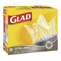 "GLAD GARBAGE BAGS 31x42"" 20/BX CLEAR"