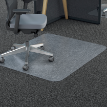CHAIRMAT RECTANGLE 45x53 STUDDED POLYCARBONATE CARPET