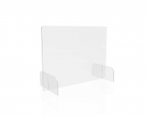 """CLEAR BARRIER FULLSHIELD wFEET 31x23 2PACK 1/8"""" POLYCARB COUNTERTOP"""