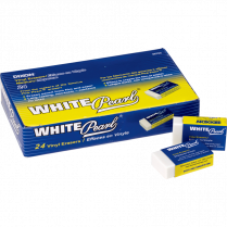 ERASER VINYL MEDIUM WHITE 24/BOX