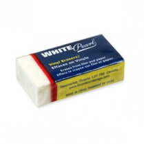 ERASER VINYL MEDIUM WHITE EACH X39700-SINGLE