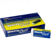 ERASER VINYL LARGE WHITE 12/BOX
