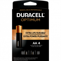 OPTIMUM BATTERIES AA 4/PKG DURACELL 41333032696 5008282