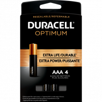OPTIMUM BATTERIES AAA 4/PKG DURACELL 41333032733 5008286