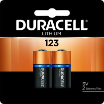 BATTERIES DURACELL 3V LITHIUM 2/PKG PHOTO 123 41333212104