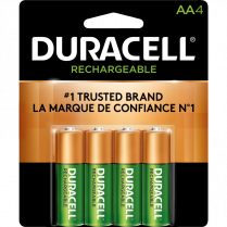 BATTERIES DURACELL AA 4/PACK RECHARGEABLE PRE-CHARGED