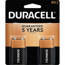 BATTERY ALKALINE 9 VOLT 2/PACK