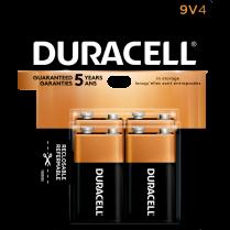 BATTERY DURACELL 9V 4/PACK 41333827018 5002355