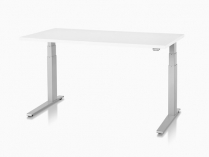 HERMAN MILLER MOTIA SIT-TO-STAND TABLE WHITE