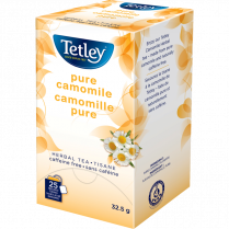 PURE CHAMOMILE HERBAL TEA 25BX TETLEY TEA 15TE130-CHAM25CT