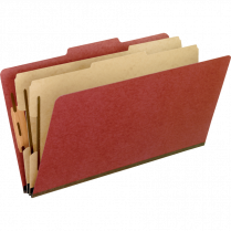 CLASSIFICATION FOLDER LEGAL RED 6 SECTIONS