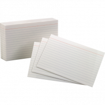 INDEX CARDS RULED 1S 4x6 WHITE
