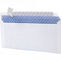 ENVELOPE 10 OXFORD PEEL&SEAL WHITE 500/BOX SECURITY