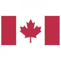 "CANADIAN FLAG NYLON 3'x1'6"" 34003618H L0945-00"