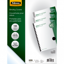 BINDING COVERS 11x8.5 100/PKG FELLOWES 7mil TRANSPARENT