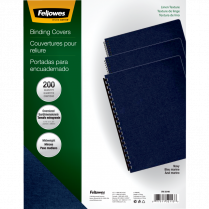 COVER SET LINEN NAVY FELLOWES 200/PK