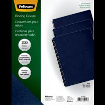 COVER SET LINEN NAVY FELLOWES 200/PK