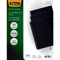 BINDING COVERS BLACK 200/PK FELLOWES EXPRESSIONS LINEN