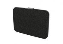 FRANKLIN MILL SECURITY WALLET BLACK FAUX LEATHER