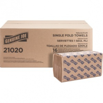 TOWEL SNGLFLD NATURAL 4301*250PK