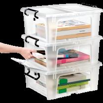 STRATA SMART BOX w/ SLIDE DOOR 20L CLEAR
