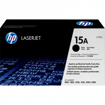 TONER CART HP 15A BLACK HEWLETT PACKARD C7115A 2.5k YL