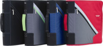 """ZIPPER BINDER 3"""" 5-STAR ASSORTED WITH HANDLE D-RING"""