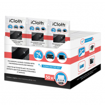 iCLOTH CLEANING WIPES 50/BOX 70% ISO ALCOHOL LINT-FREE
