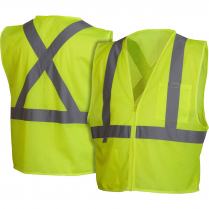 SAFETY VEST HI-VIS LIME LARGE