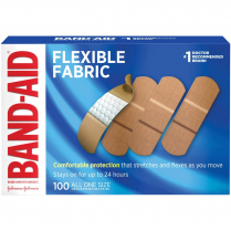 "BANDAIDS FLEXIBLE 1"" 100/BOX"